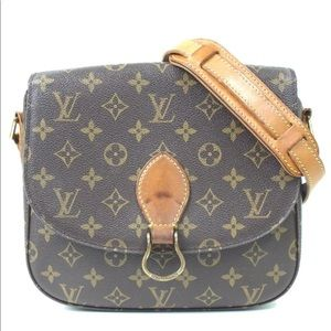 Auth Louis Vuitton Saint Cloud GM Crossbody Bag